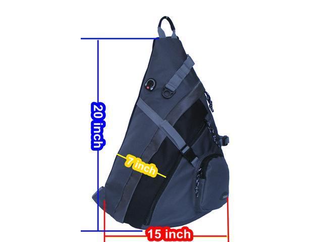 HBAG Sling Backpack Single Strap School Travel Sports Shoulder Bag ... 28adce913b01f