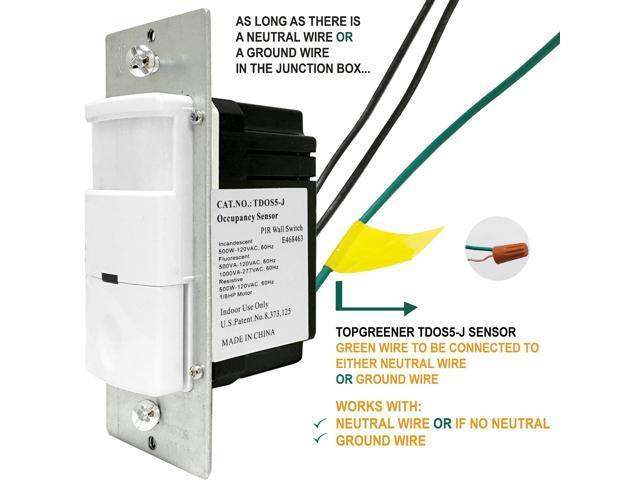 Topgreener Tdos5 J Occupancy Sensor And Vacancy 2 In 1