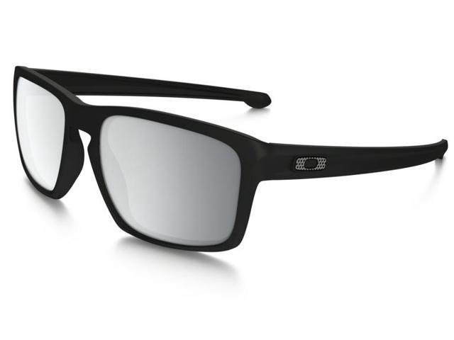 a531efeabe5 Oakley Sliver Machinist Collection Sunglasses OO9262-26 Matte Black Frame   Chrome  Iridium Lens