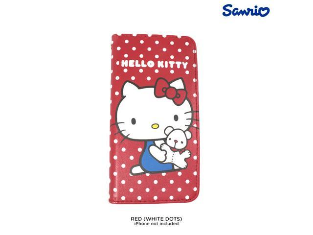 8061440de Gourmandise Hello Kitty Flip PU Leather Wallet Case for iPhone 5 & 5S - Red