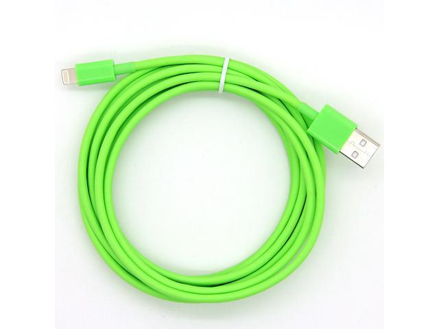 differently 50da0 66f9a Green Color 10 Feet 3M Extra Long Extended USB to 8 Pin Data Sync ...
