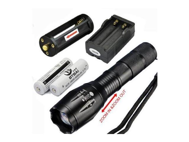 2X Ultrafire Flashlight T6 High Power 5 Mode Zoom Torch Lamp