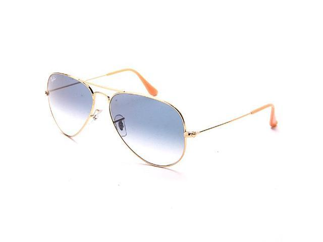 93c89360054 Ray-Ban RB3025 Aviator Gradient Non-Polarized Sunglasses(58mm) - Gold Frame