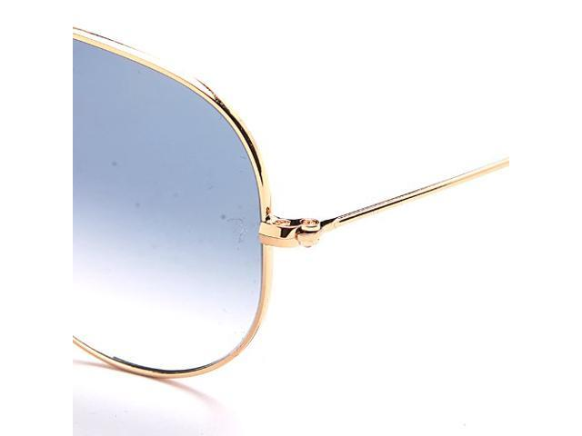 ray ban rb3025 aviator sunglasses gold frame crystal gradient