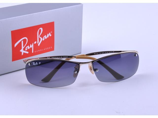 e685121d76 Ray-Ban RB3183 Sunglasses with Gold Frame and Polarized Gray Lenses ...