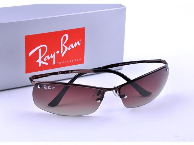 87783324905 Ray-Ban RB3183 Sunglasses with Coffee Frame and Polarized Brown Lenses