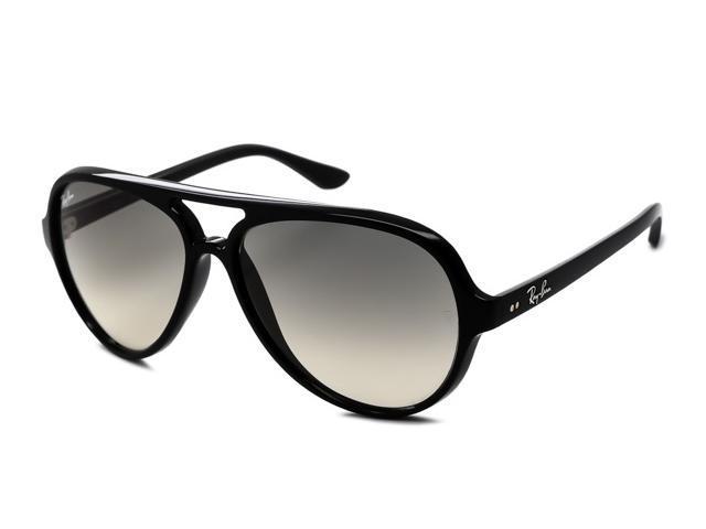 5737fa6dab8 Ray Ban RB4125 Cats 5000 Classic Aviator Sunglasses - Black Frame Light  Grey Lens