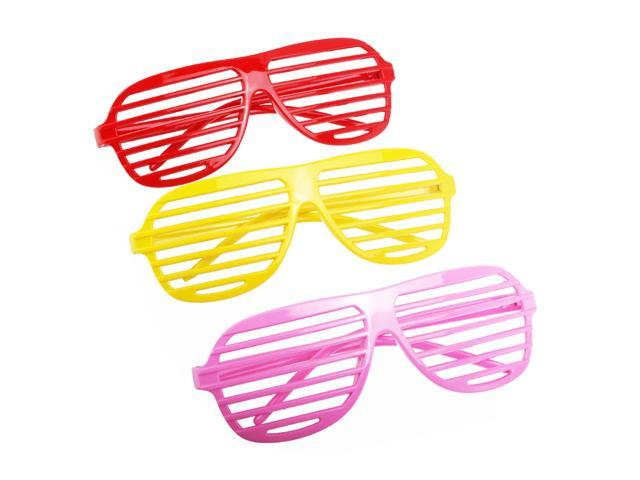 2e67f14eef Foxnovo 24 Pairs of Fashion Plastic Shutter Shades Glasses Sunglasses  Eyewear Halloween Club Party Cosplay Props