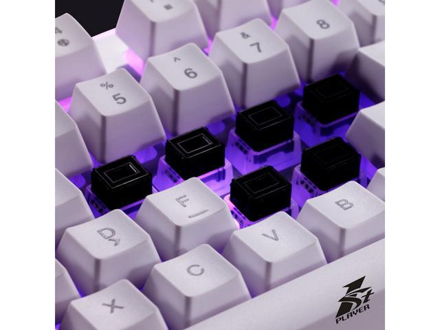 1STPLAYER FIRE DANCING Mechanical Feeling Gaming Keyboard, 104 Floating Keys, 26 Keys without Conflict