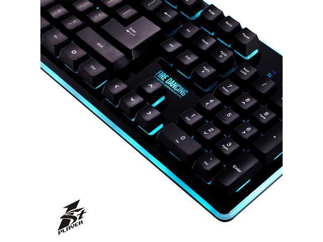 1STPLAYER FIRE DANCING Mechanical Feeling Gaming Keyboard - LED Black Version
