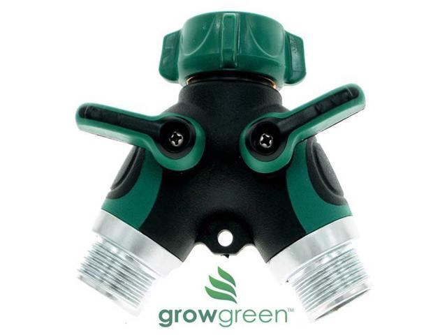 Grow Green Heavy Duty Durable Garden Hose Splitter 2 Way Solid