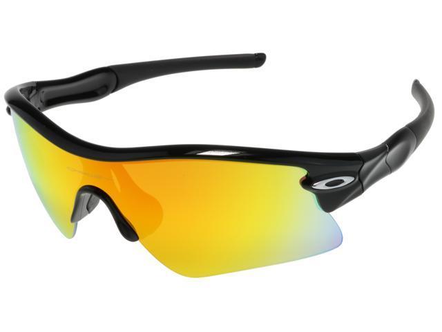 9625aac1f8 Oakley MPH Radar Range Sunglasses OO9056-0635 Polished Black w  Fire  Iridium Lens